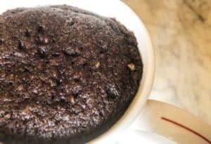 keto lily's chocolate brownie mug cake