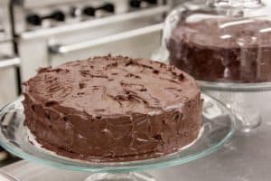 Keto Chocolate Cake With Chocolate Frosting