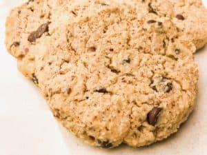 chewy keto cream cheese chocolate chip cookies