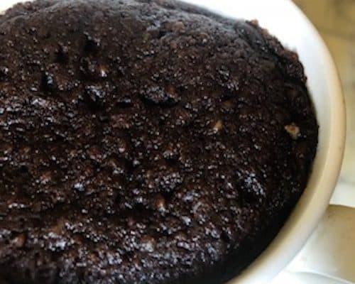 keto chocolate collagen mug cake
