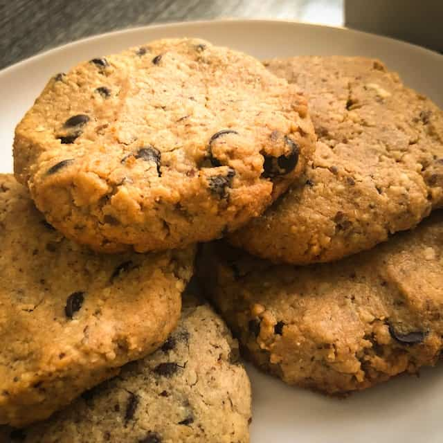 Chewy Keto Peanut Butter Chocolate Chip Cookies